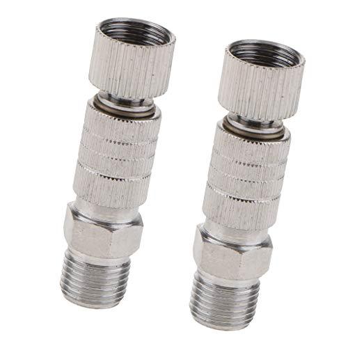 2x Airbrush Luftschlauch Schnellkupplung Airbrush Adapter 1/8 Gewinde 40mm