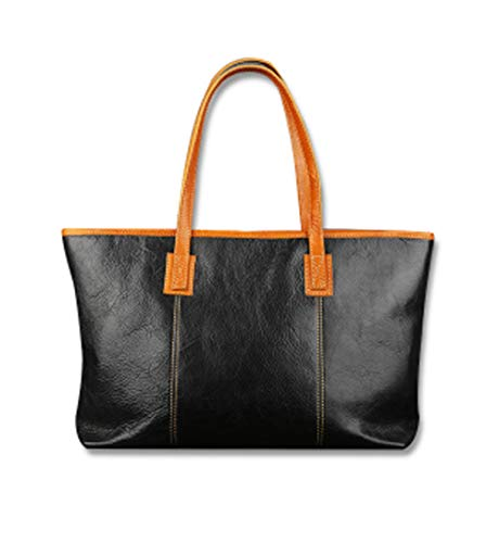 Bolso de mano de piel suave para mujer, bolso de mano grande con asa superior para llevar al hombro, bolsa de trabajo con cremallera para mujer