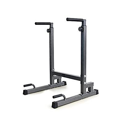 Livebest Heavy Duty Dip Stand Parallel Bar Strength Training Exercise Home Gym Dipping Station Dip Bar Work Out Equipment
