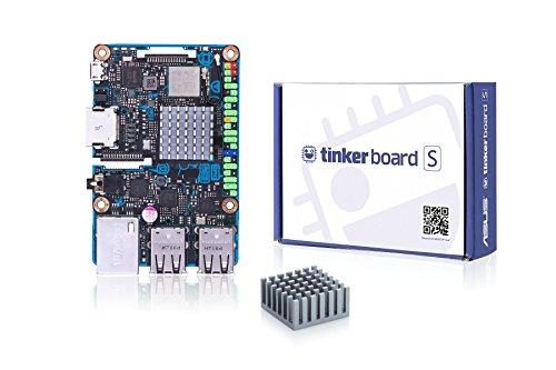 Asus Tinker Board S (Einplatinencomputer, 16GB eMMC,  ARM-basiert, Rockchip Quad-Core RK3288 Prozessor, 2GB DDR3, 4x USB 2.0)