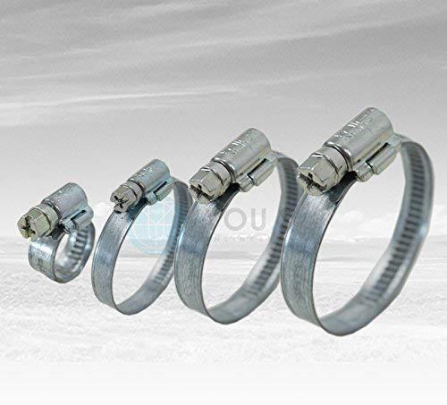 10 Stück 12 mm 23-35mm Schneckengewinde Schlauchschellen Schellen Stahl Verzinkt