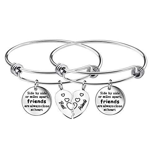 Braccialetto dell'amicizia, per donne, ragazze, migliori amici, regalo di laurea, confezione da 2 pezzi