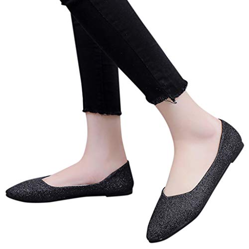 Great Features Of Xinantime Womens Casual Single Shoes Solid Color Flat Shoes Comfortable Wild Commu...