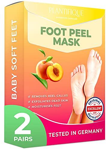 Foot Peel Mask - Peach Feet Peeling Mask 2 Pack - Dermatologically Tested,...