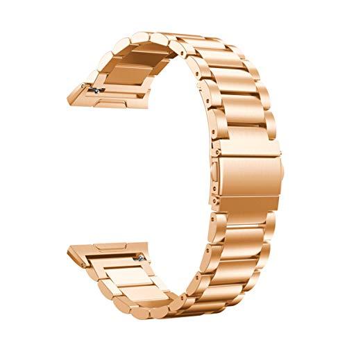 Hemobllo Correa de repuesto para reloj inteligente compatible con Fitbit Ionic (oro rosa)