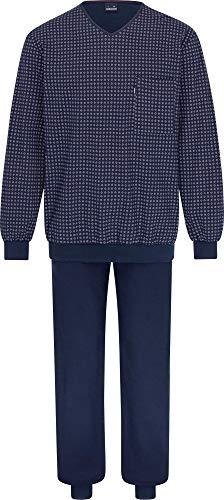 Herren Schlafanzug lang Blau 54