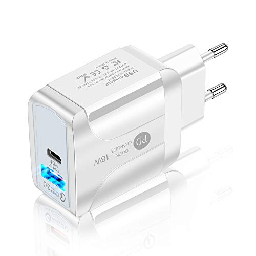 iAmotus 18W USB Ladegerät mit PowerIQ Technologie, USB C Mini Ladegerät Für iPhone, iPad, Kamera, Samsung Galaxy, Nexus, HTC, Motorola, LG und viele