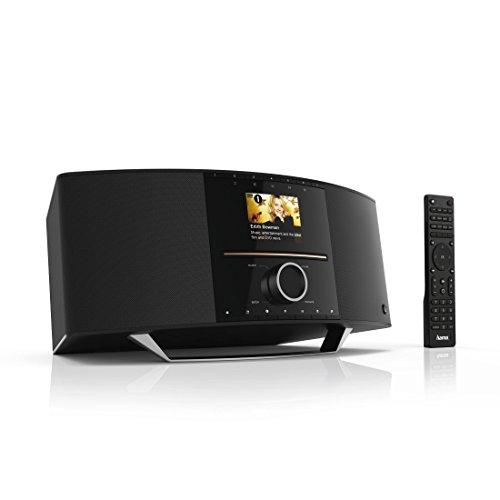 Hama Internetradio mit CD Player und DAB+ (Spotify, WLAN/LAN/UKW/CD/Bluetooth/USB, 40 W RMS, Digitalradio mit 2,8 Farbdisplay, 2 Weckzeiten, Multiroom, Fernbedienung, ohne Amazon Music) schwarz
