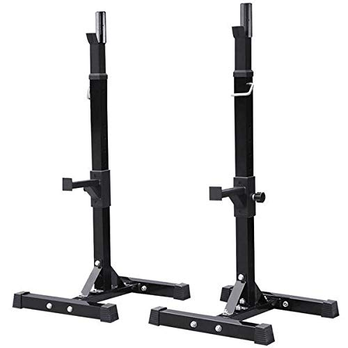 Yaheetech Pair of Adjustable Squat Rack Standard 44-70 Inch...