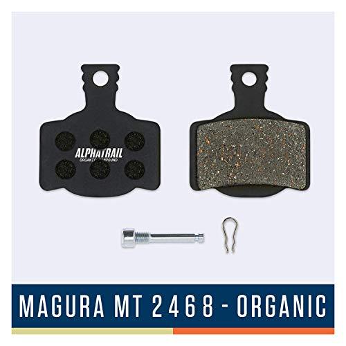 Alphatrail Bremsbeläge - Magura Typ 7 MT2-8 I Organischer MTB Bremsbelag mit hoher Bremskraft & Laufleistung I 100% Passgenau für Fahrrad Scheibenbremse von Magura MT2 MT4 MT6 MT8 MTS