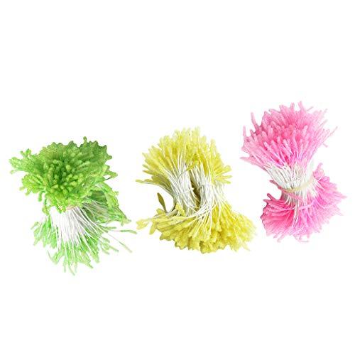 Colcolo 900 Piezas Multicolor Flor de Doble Cara Estambres Artesanía Boda Tarjeta Artificial