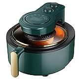 JMSL Freidora de Aire de 6L-Horno de freidora multifunción-1100W Tecnología de circulación de Aire rápida-Cocción Saludable sin Aceite, Baja en Grasa, horneado y Grillin, Verde