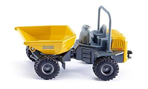 siku 3509, Wacker Neuson DW60 Dumper, 1:50, Metall/Kunststoff, Gelb/Grau, Kipp- und drehbare Mulde