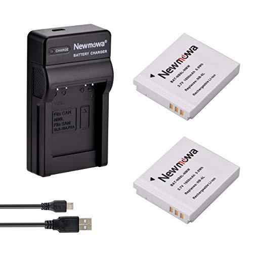 Newmowa NB-6L Batería (2-Pack) y Kit Cargador Micro USB portátil para Canon NB-6L and...