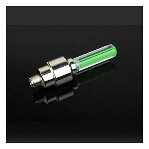 M-JJZX LED-Reifenrad-Ventilkappe Licht für Fahrrad-Motorrad-Rad-Licht-Reifen (Color : Green)