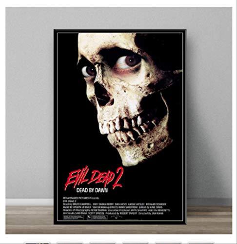DPFRY Leinwand Malerei Evil Dead Classic Horrorfilm Kunst Malerei Leinwand Poster Wand Dekoration Mw5T 40X60 cm Ohne Rahmen