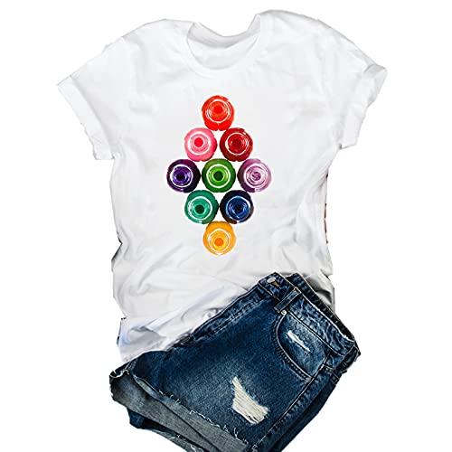 shirts Las mujeres 2020 impresión 3D 90s Vogue Moda Tops Tumblr Camisetas Ropa Mujer Señoras Gráfico Camiseta T Ropa