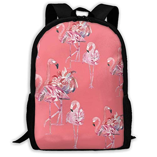 XCNGG Flamingo Pink Background Pattern Large Capacity Travel Computer Backpack, Adult Printed Backpack, Portable Multifunctional Student Backpack