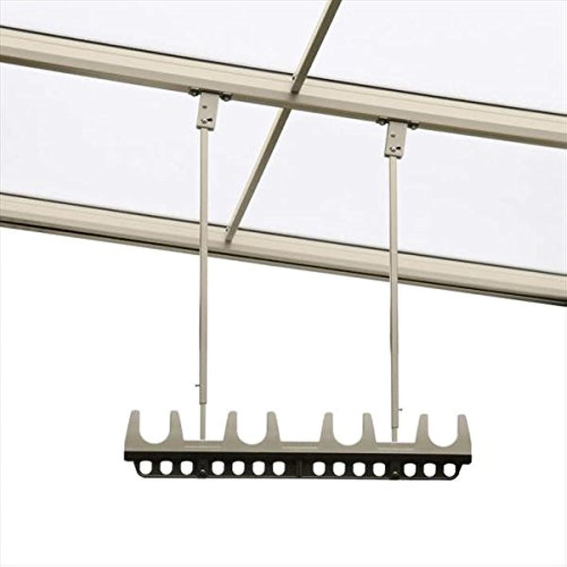 アルコーブ組立星三協アルミ 竿掛け 吊り下げ型 調整式 ショート 2本入り SATV-03K-2S  ブラウン