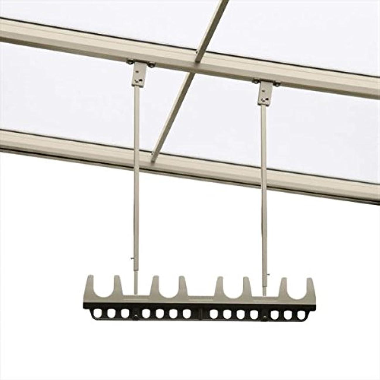 十分ではない藤色墓三協アルミ 竿掛け 吊り下げ型 調整式 ショート 2本入り SATV-03K-2S  ブラウン