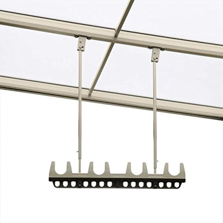 がっかりしたスパイネコ三協アルミ 竿掛け 吊り下げ型 調整式 ロング 2本入り SATV-03K-2L   『物干し 屋外』  ホワイト(WH)