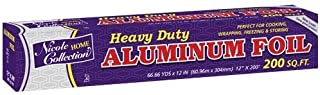 Nicole Home Collection 12-Inch Aluminum Foil, 200-Feet