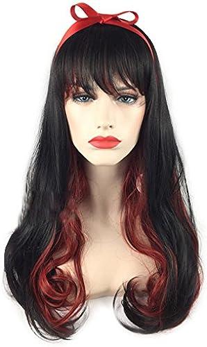 ERCZYO Cosplay Perücken SchwarzGradient rot Halloween Party volle Haare mit Cap Anime Haar ERCZYO (Größe   One Größe)
