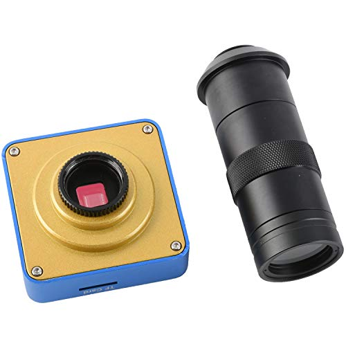 KOPPACE 38MP HDMI USB Industrial Video Microscope Camera Digital Zoom Lens HDMI Output + 100X C Interface Lens for Mobile Phone Repair