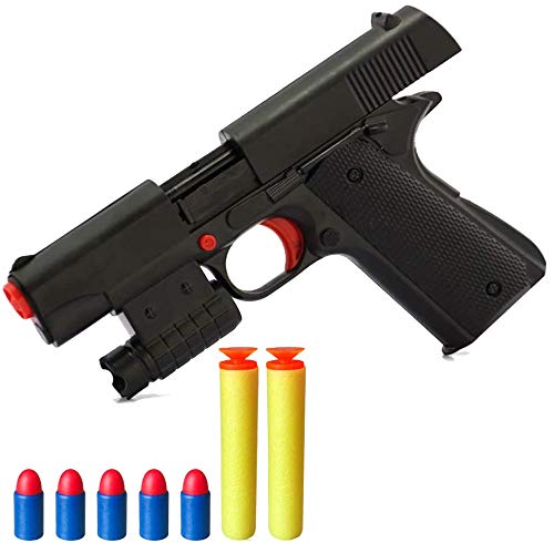 Toy Gun Realistic Kid Toy Gun 1:1 Scale Colt M1911A1 Rubber Bullet Pistol Mini Pistols