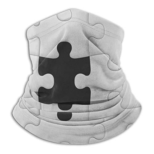 ShiHaiYunBai Tour de Cou Cagoule Microfibre Chapeaux Tube Masque Visage, Winter Neck Mask,White Puzzle Black White Ski Cover Face Mask,for Womans