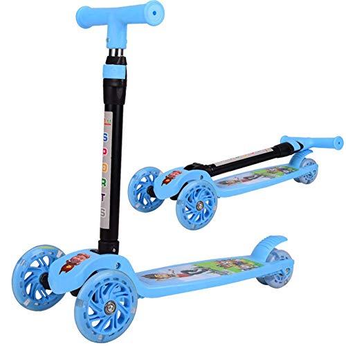 Pkfinrd Folding Street Push Scooter, lichtgewicht constructie Kick Scooter voor jongens meisjes leeftijd 2-14 - LED Light Up Wheels, pak voor hoogte 80-150CM pedaal belasting 220.46lbs