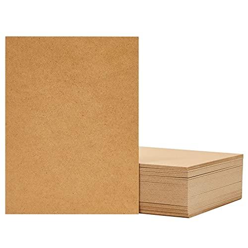 MDF Wood Board, Medium Density Fiberboard, Hardwood Board (6 x 8 in, Brown, 30 Pack)
