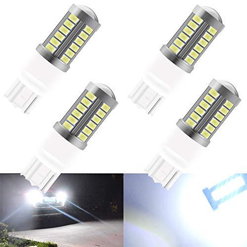 4 pz Bianco T20 7440NA 7440NA 7441 992 5630 33SMD Lampadine a LED Canbus 900LM Super Bright Luce retromarcia Parcheggio Luce Freno posteriore Luci di fendinebbia Luce di posizione 12-30 V 3.6 W
