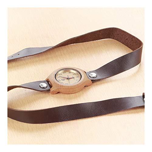 Ebony Wooden Watch - Creative Retro Industry - Saludable, Reloj Natural Puro, ecológico, cálido y romántico, for los más Queridos (Color : A)