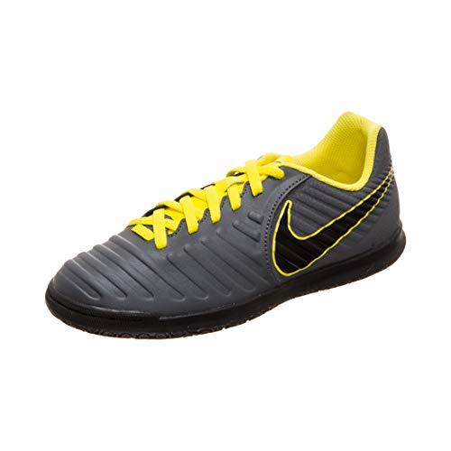 Nike Jr Legend 7 Club Ic - Scarpe da calcio unisex da bambino, (Grigio scuro Opti Yellow Black), 19 EU