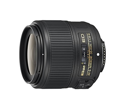 Nikon AF-S NIKKOR 35mm f/1.8G ED Fixed Zoom Lens with Auto Focus for Nikon DSLR...