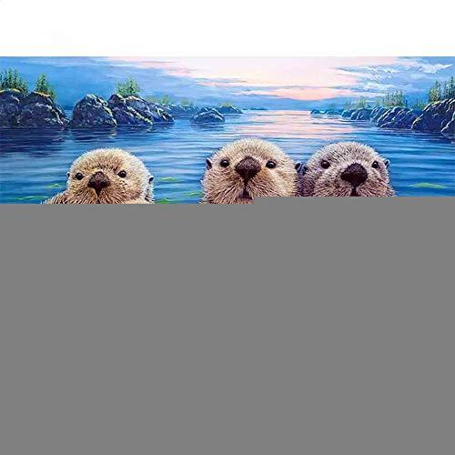 5D-Diamant-Malerei-Set für Erwachsene und Kinder, Motiv: Otter, Strassstein-Stickerei, Kreuzstich für Zuhause, Wanddekoration, runde Diamanten, 30 x 40 cm