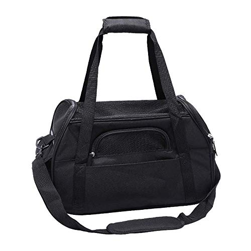 SMX Soft- Pet Carrier-Best for Small Dogs Cats Foldable-Pets Carrier Bag,Patch Pet Bag-Dog Carrier Rucksack Toy Pet Carrier for Medium Dogs (Color : Black, Size : S)