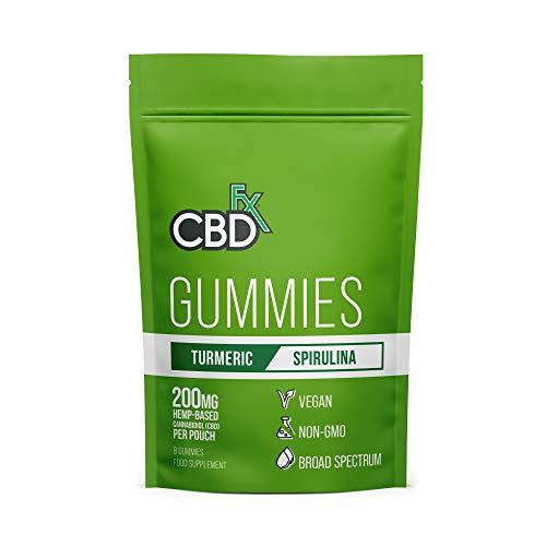 CBDfx Turmeric & Spirulina Gummies (8 Gummy Pouch) - 200mg CBD
