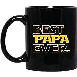 Ahdyr Taza Taza de café día de Padres de Papa Ever para Step Papa Copy 11 oz. Taza Negra