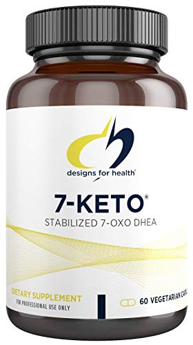 Designs for Health 7-Keto - 100mg 7-OXO DHEA Supplement for Men + Women - Designed to Support Fat Metabolism - Non-GMO + Gluten Free (60 Capsules)
