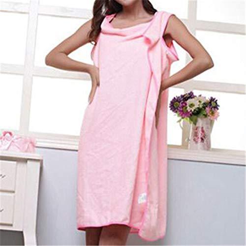 MGHN Toallas 1PC 155 cm X 86 Cm de Toallas de Microfibra usable Atractivo baño de Secado rápido Lavar la Ropa del Abrigo de Las Mujeres Toallas de Cuerpo Señora Ducha Honda Falda (Color : Pink)