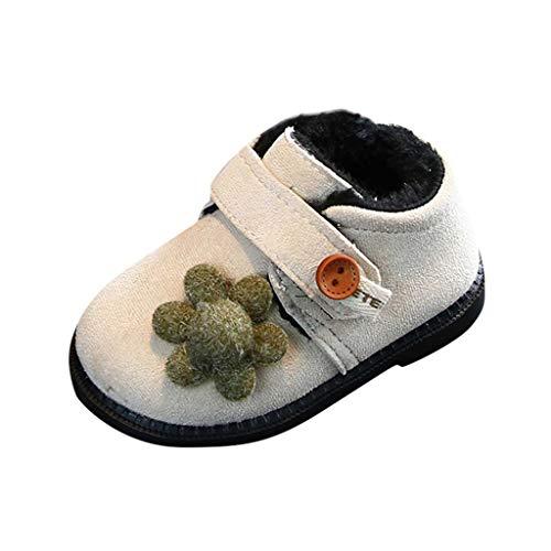 Bébé Fille Chaussons de Neige 6-24mois,BZLine Bambin Peluche Shoes Hiver chaud Chaussures Tout-Petits Peluche Coton Soulier Raquettes Semelle Souple