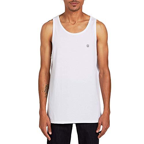 Volcom Solid Heather Tank Camiseta, Blanco, XXL para Hombre