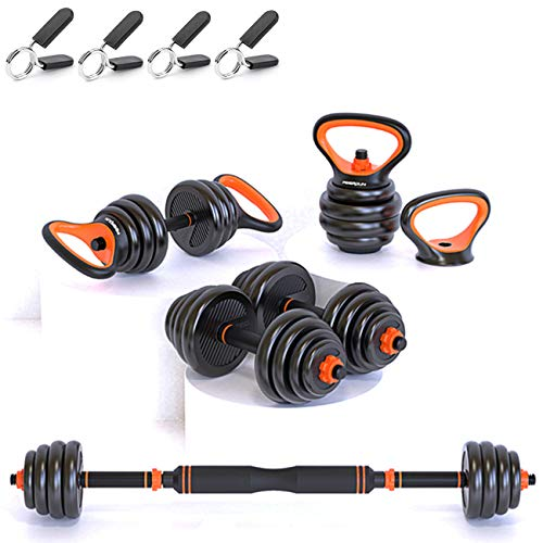 Gintonique Adjustable Dumbbells, Dumbbell Set, Free Weights Dumbbells Set of 2, Kettlebell, Barbell, Push-up Set, Home Work Out for Men...