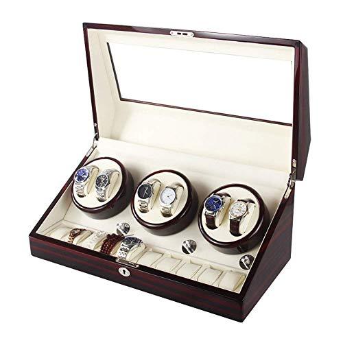WXDP Enrollador de Reloj automático,Caja de automática, 5 Modos y Motor silencioso, se Adapta a la mayoría de Las Cajas giratorias de y 10 Cajas de almacen