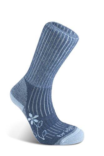 Bridgedale HIKE Damen Stiefel aus leichter Baumwolle L blau