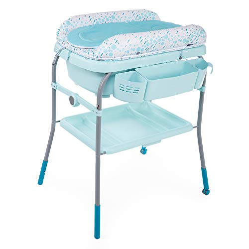 Chicco Combi Bain Baignoire Change Cuddle/Bubble Dusty Green - Table à Langer