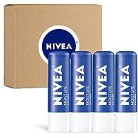4-Pack Nivea Moisture Lip Care Unisex Intensively Moisturizing Balm
