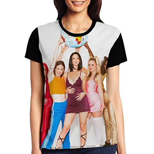 Spice Up Your Life Spice - Camiseta de manga corta para mujer con cuello redondo